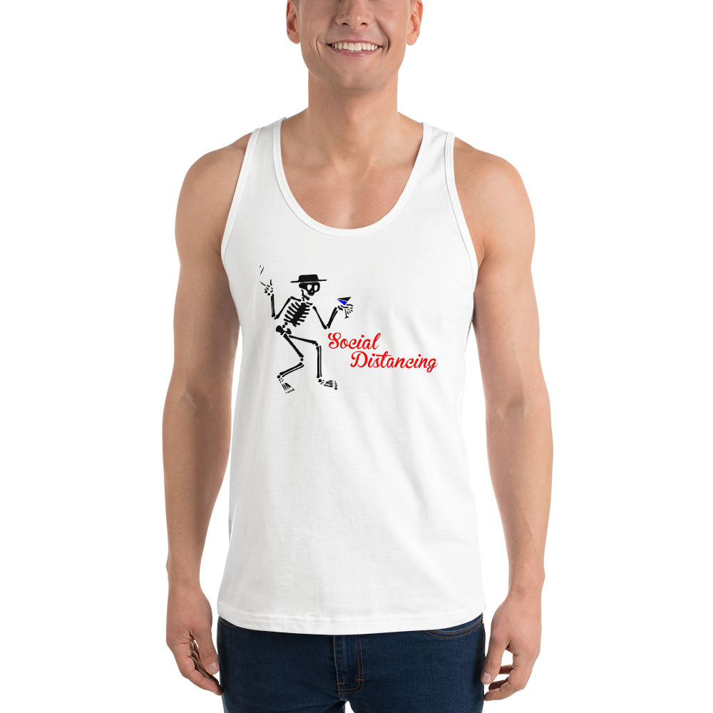 Social Distancing Classic Unisex tank top