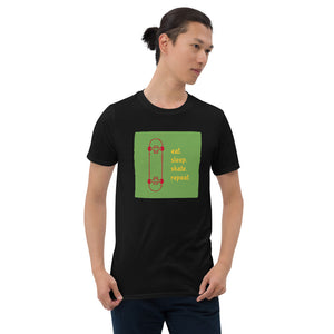 Eat sleep skate repeat Short-Sleeve Unisex T-Shirt
