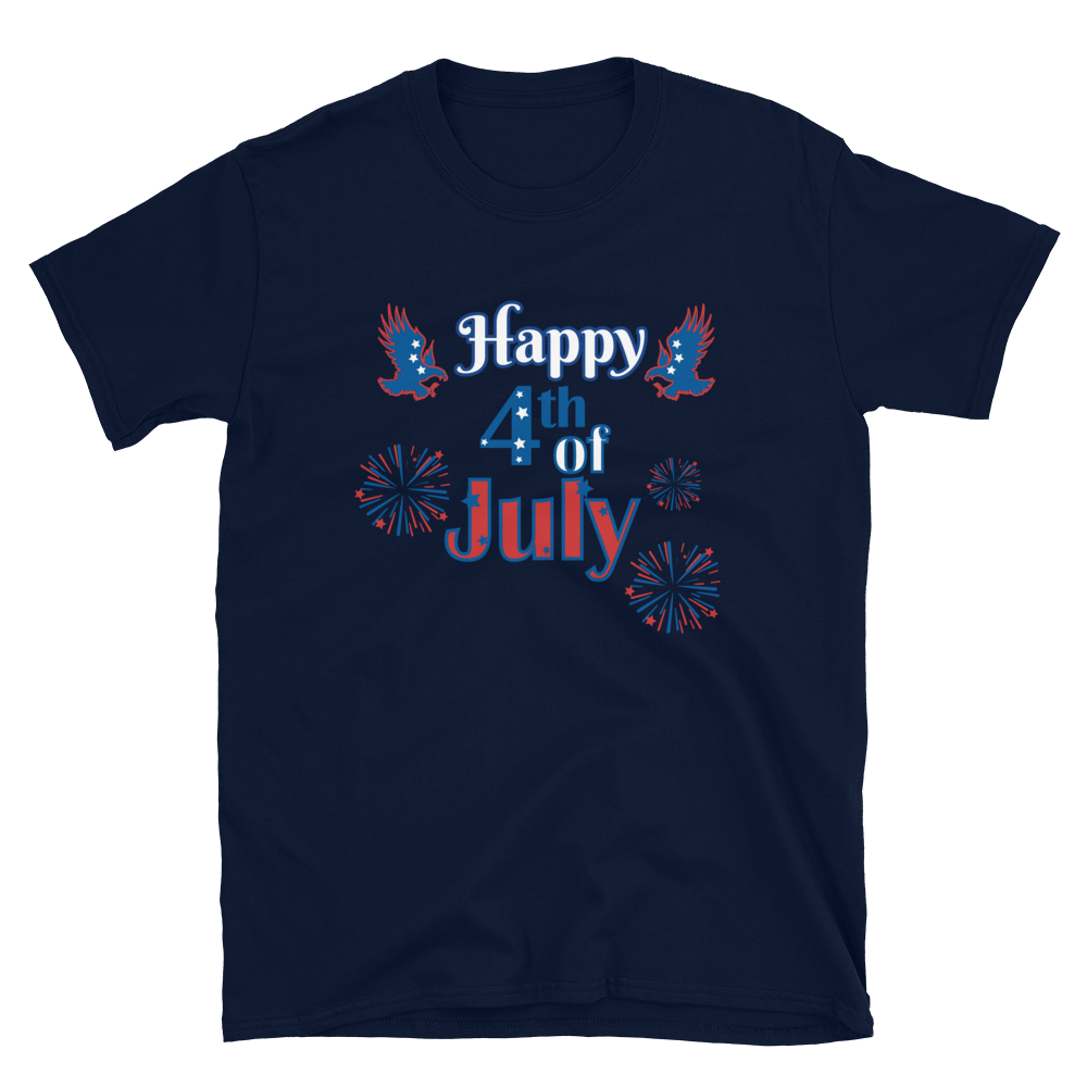 Happy 4th of July Short-Sleeve Unisex T-Shirt