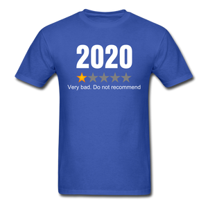 2020 1 Star Review Men's sarcastic T-Shirt - royal blue