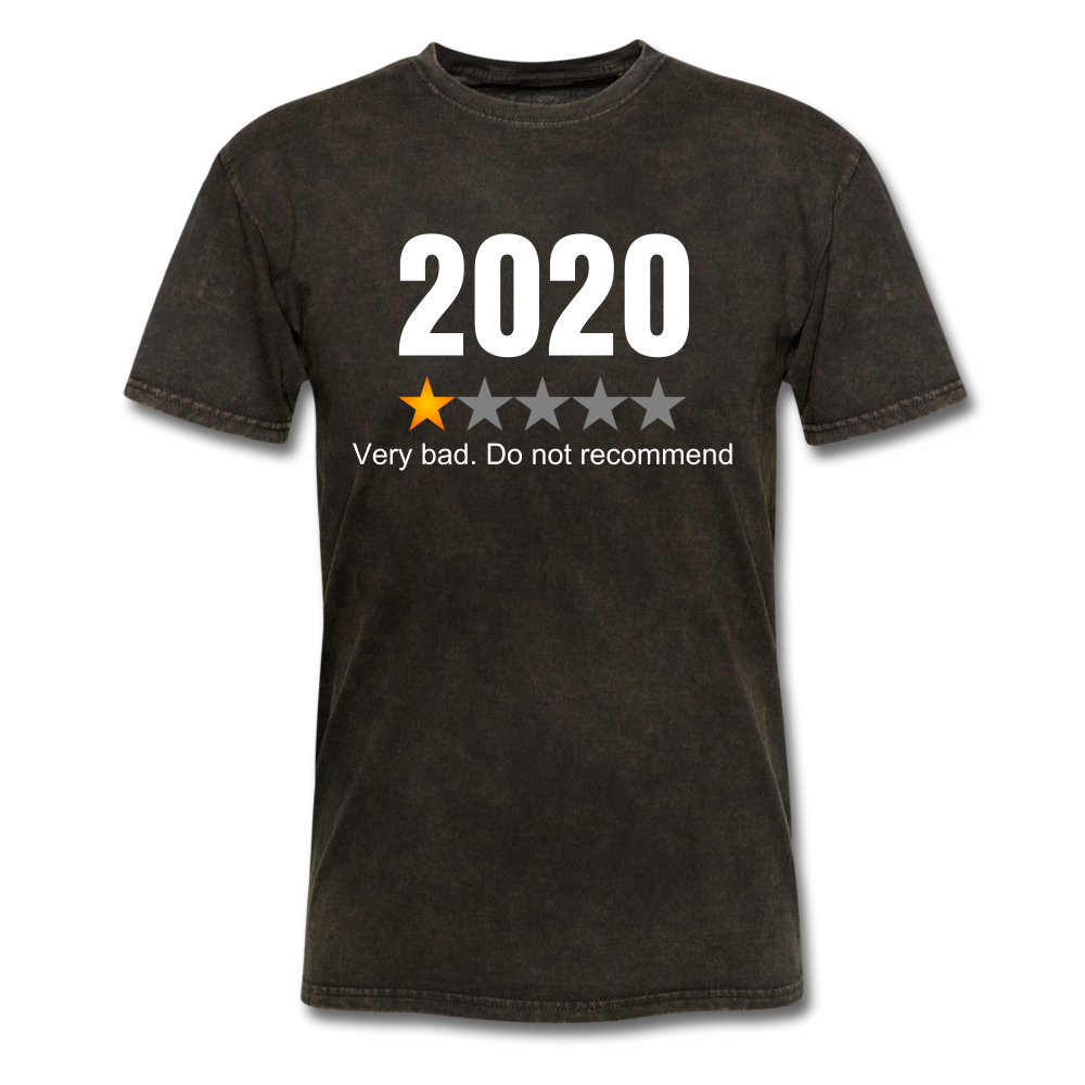 2020 1 Star Review Men's sarcastic T-Shirt - mineral black