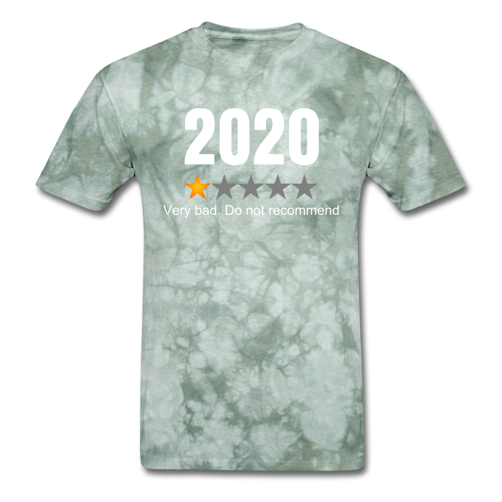 2020 1 Star Review Men's sarcastic T-Shirt - military green tie dye