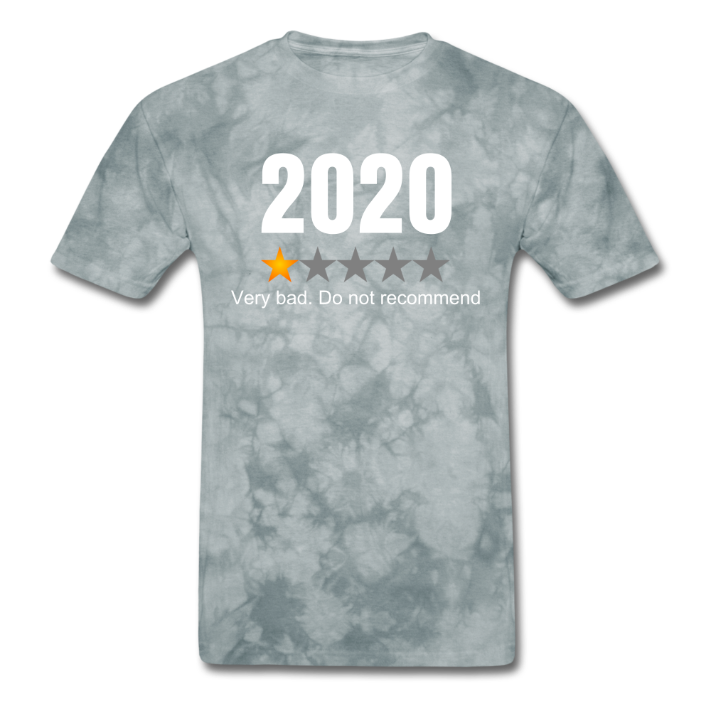 2020 1 Star Review Men's sarcastic T-Shirt - grey tie dye