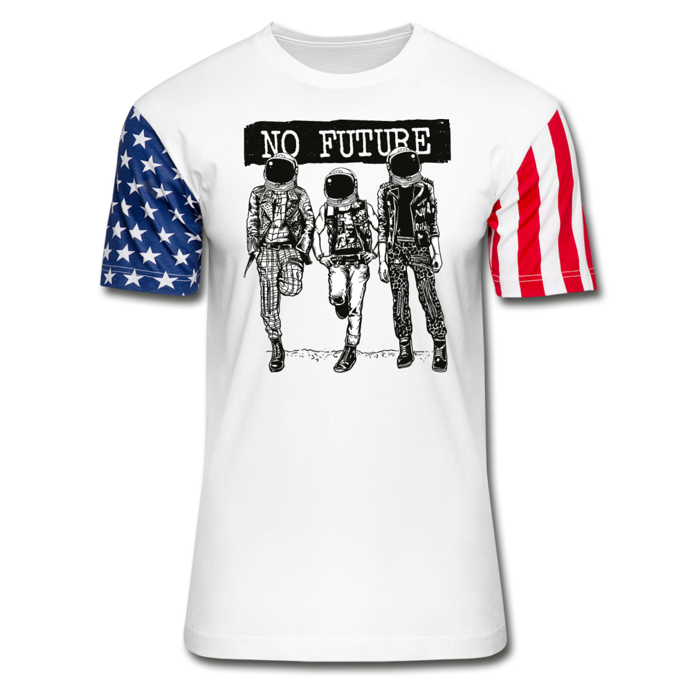 No Future Punk Astronauts Stars & Stripes T-Shirt - white