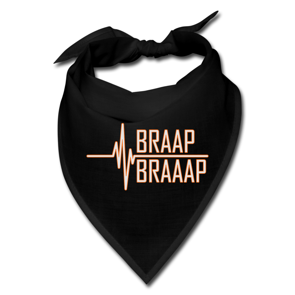 Braap heartbeat biker bandana - black