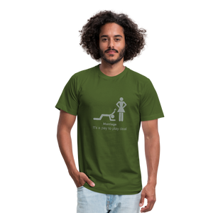 Marriage reality Unisex Jersey Bella + Canvas t-shirt - olive
