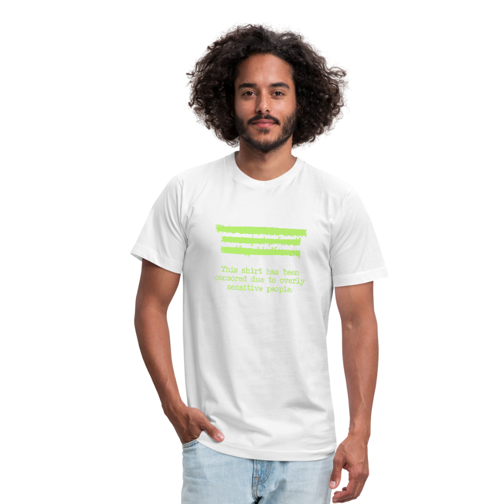 This shirt has been censored Unisex Jersey T-Shirt by Bella + Canvas - white