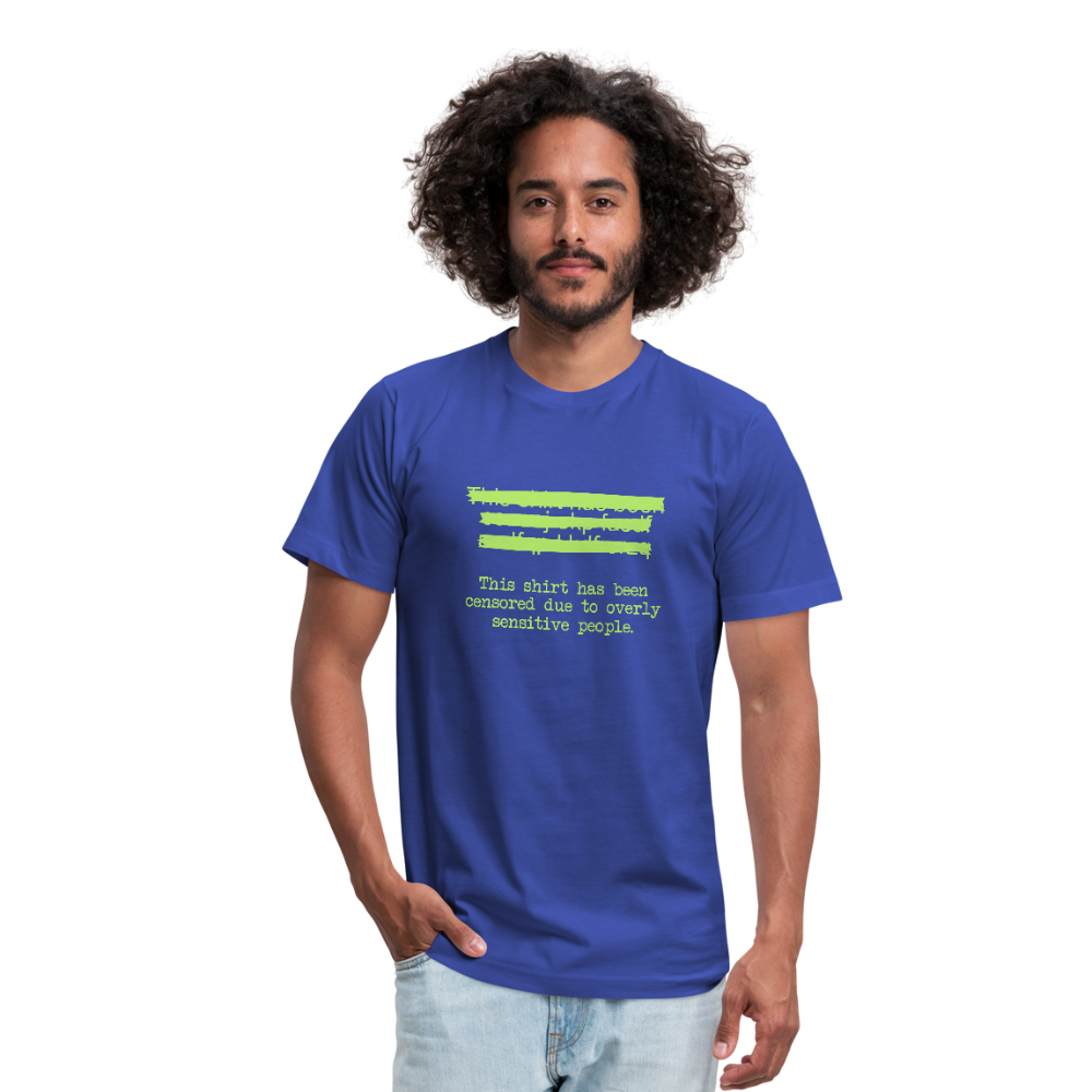 This shirt has been censored Unisex Jersey T-Shirt by Bella + Canvas - royal blue