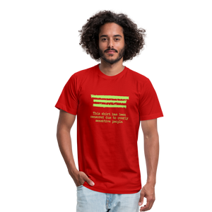 This shirt has been censored Unisex Jersey T-Shirt by Bella + Canvas - red