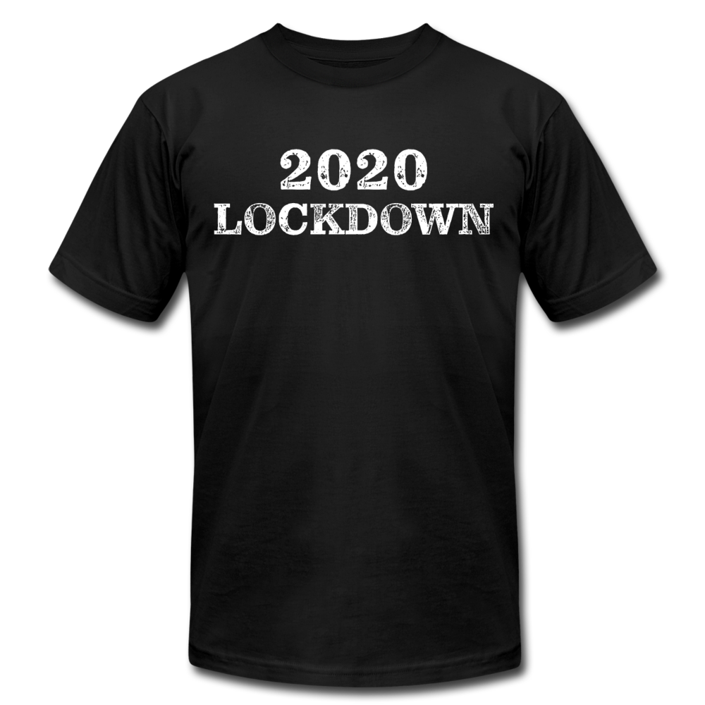 2020 Lockdown Unisex Jersey T-Shirt by Bella + Canvas - black