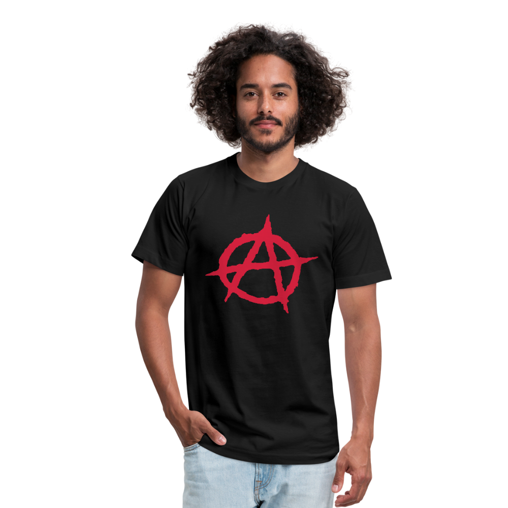 Classic Anarchy Unisex Jersey T-Shirt by Bella + Canvas - black