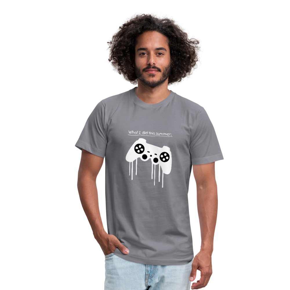 What I did this summer gamers life Unisex Jersey T-Shirt by Bella + Canvas - slate