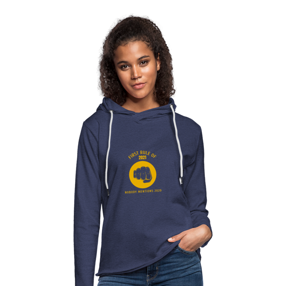 First rule of 2021 Unisex Lightweight Terry Hoodie - heather navy