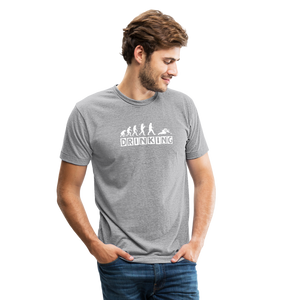 The evolution of drinking Unisex Tri-Blend T-Shirt - heather gray