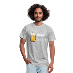 Beer the glue holding 2020 together Unisex Jersey T-Shirt by Bella + Canvas - heather gray