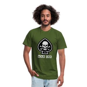 WAR Ink Ace Unisex Jersey T-Shirt - olive