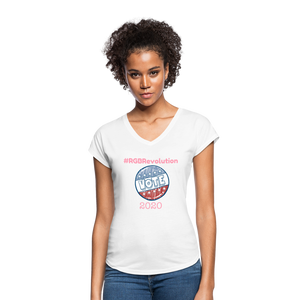 RGB Revolution Women's Tri-Blend V-Neck T-Shirt - white