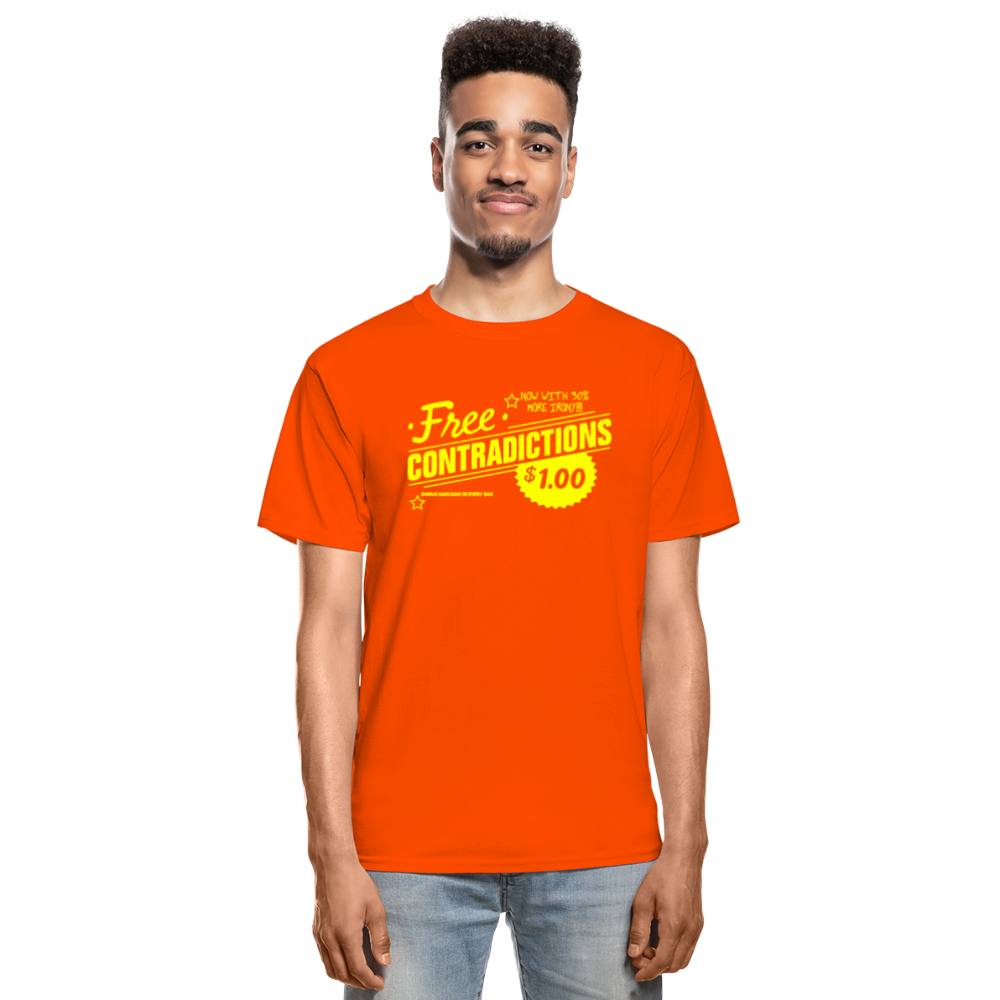Free Contradictions sarcastic unisex T-Shirt - orange