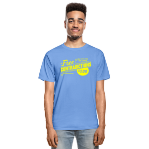Free Contradictions sarcastic unisex T-Shirt - carolina blue
