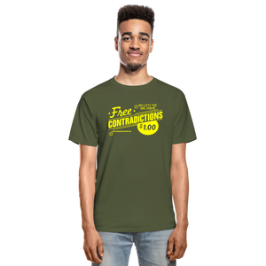 Free Contradictions sarcastic unisex T-Shirt - military green