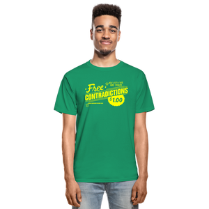 Free Contradictions sarcastic unisex T-Shirt - kelly green