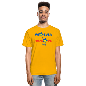 Forever a Toys R Us Kid Adult unisex Tagless T-Shirt - gold
