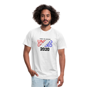United or Divided - Time to Decide 2020 Unisex Jersey T-Shirt Bella + Canvas - white