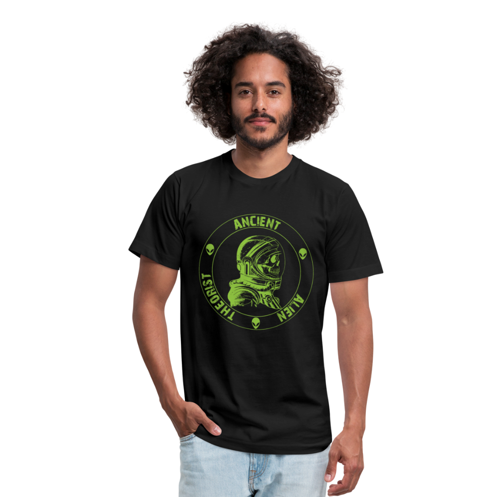 Ancient Alien Theorist Unisex Jersey T-Shirt - black