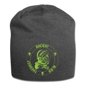 Ancient Alien Theorist Jersey Beanie - charcoal gray