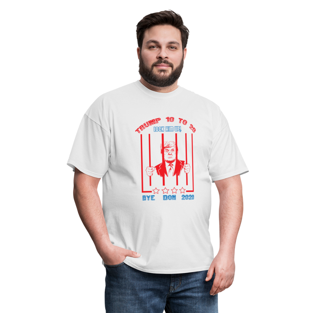 Lock Him Up - Trump 10 to 20 Unisex Classic T-Shirt - white