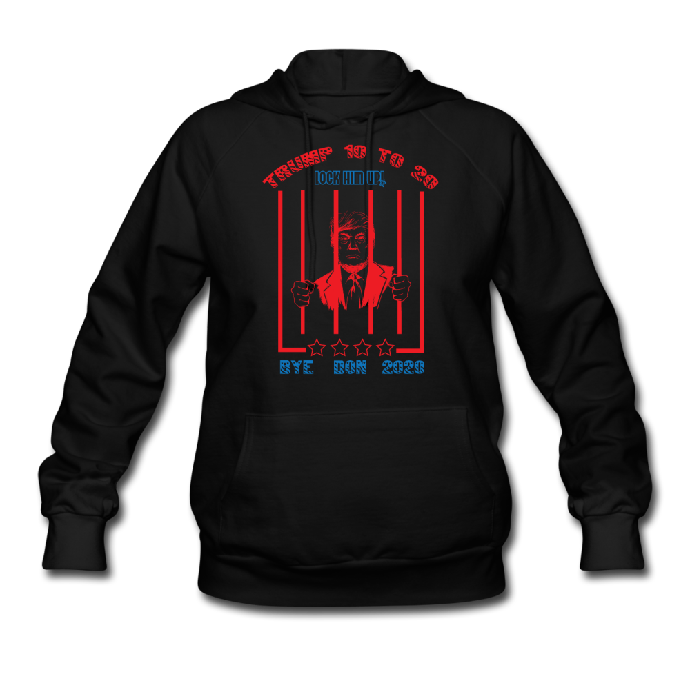 Trump 10 to 20 Lock Him Up Women's Hoodie - black