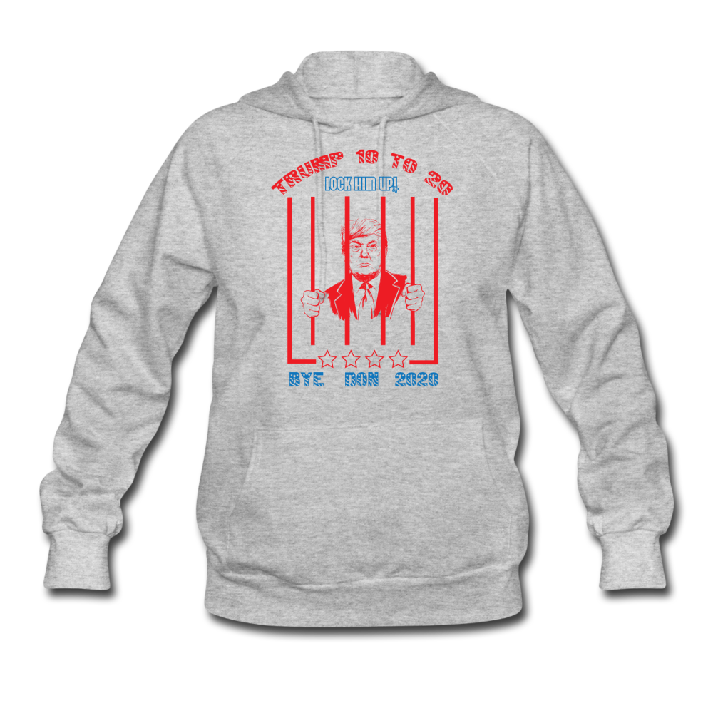 Trump 10 to 20 Lock Him Up Women's Hoodie - heather gray