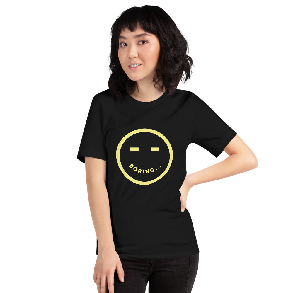 Boring Smiley Face Short-Sleeve Unisex T-Shirt