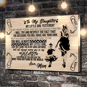 To My Daughter, Love Mom Dance Canvas