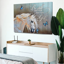 Load image into Gallery viewer, Psalm 46:10 Horse and Butterfly Canvas
