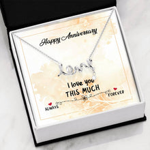 Load image into Gallery viewer, Happy Anniversary Love Necklace