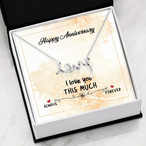 Happy Anniversary Love Necklace