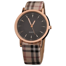 Load image into Gallery viewer, Plaid Rose Gold Women Watch