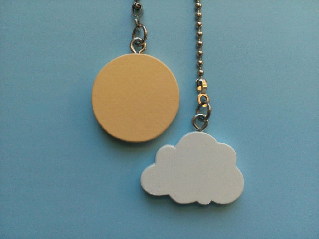 Sun and Cloud Ceiling Fan Pull Chain Set