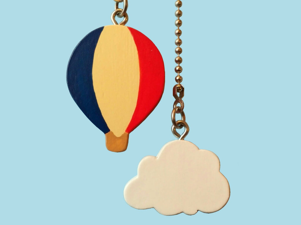 Hot Air Balloon and Ceiling Fan Pull Chain Set