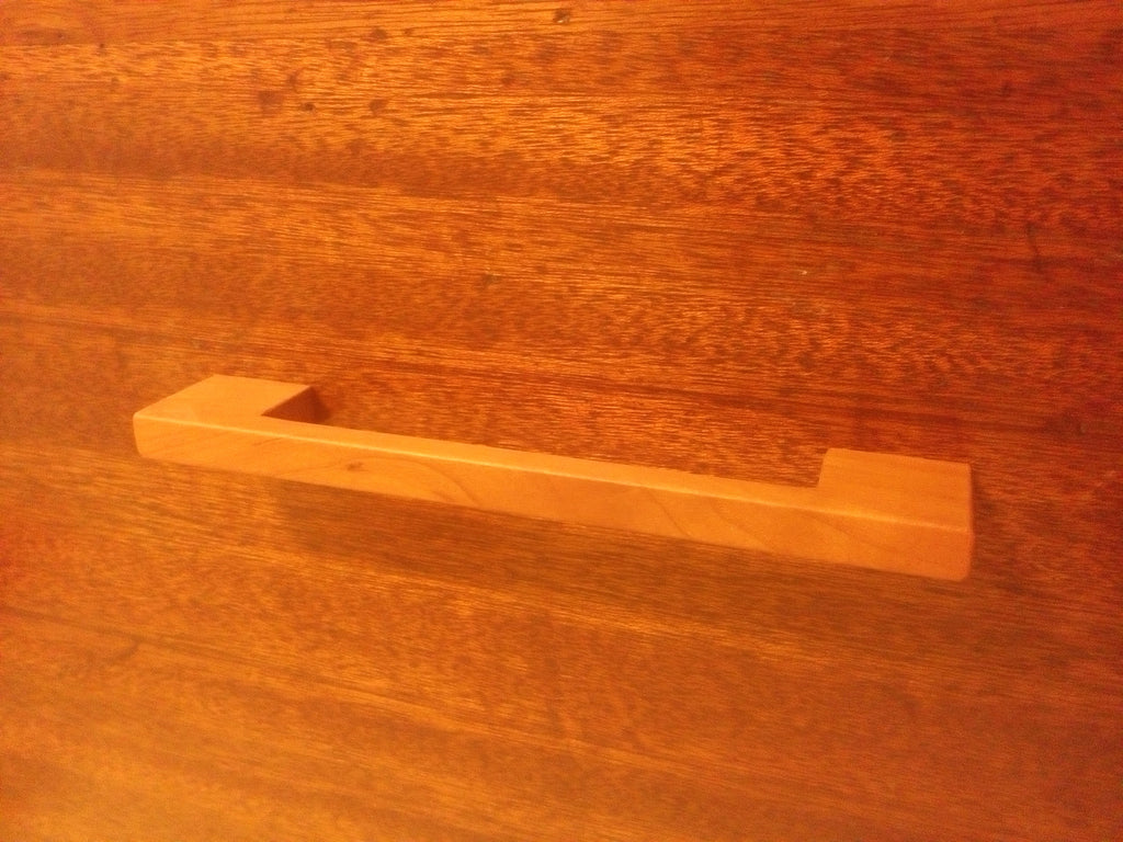 Contemporary Cherry Wood Cabinet Pull