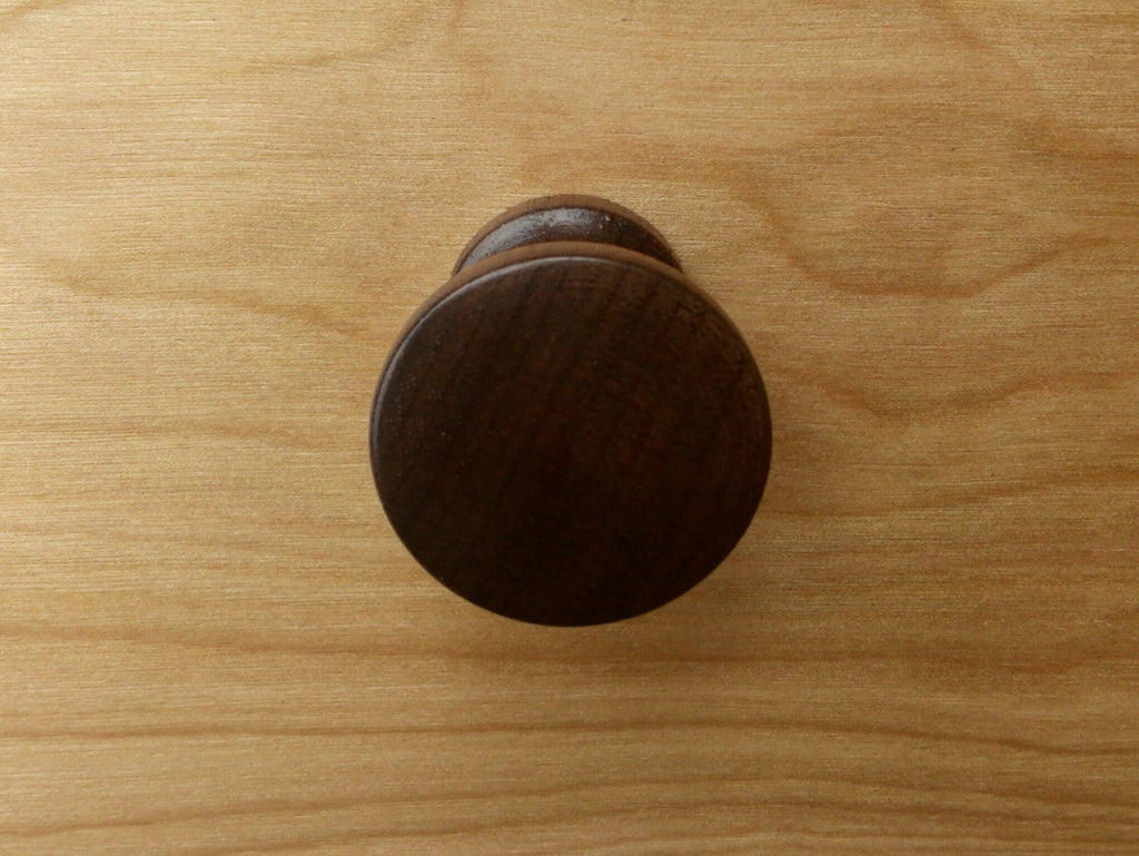 Charmant Contemporary Round Walnut Wood Cabinet Knob
