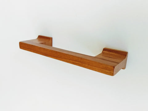 Cherry Wood Cabinet Pull with Coved Posts