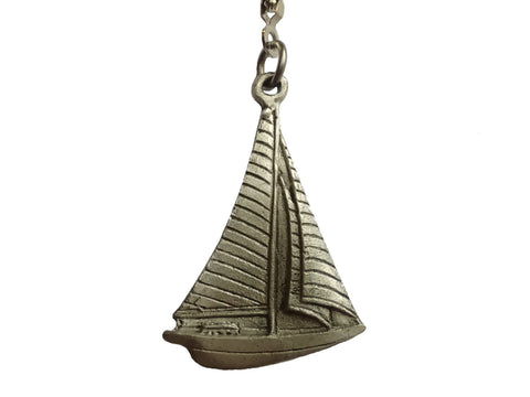 Pewter Sailboat Ceiling Fan Pull Chain