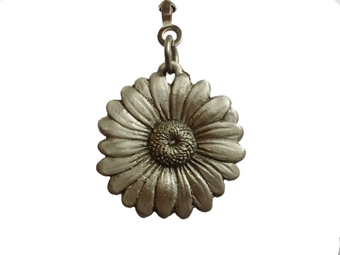 Pewter Daisy Ceiling Fan Pull Chain