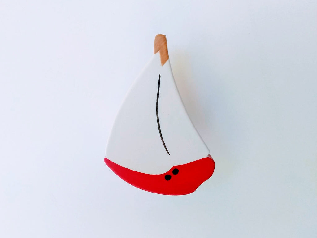 Red Sailboat Children's Drawer Knob