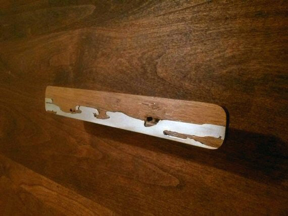 wood cabinet pull pewter handle