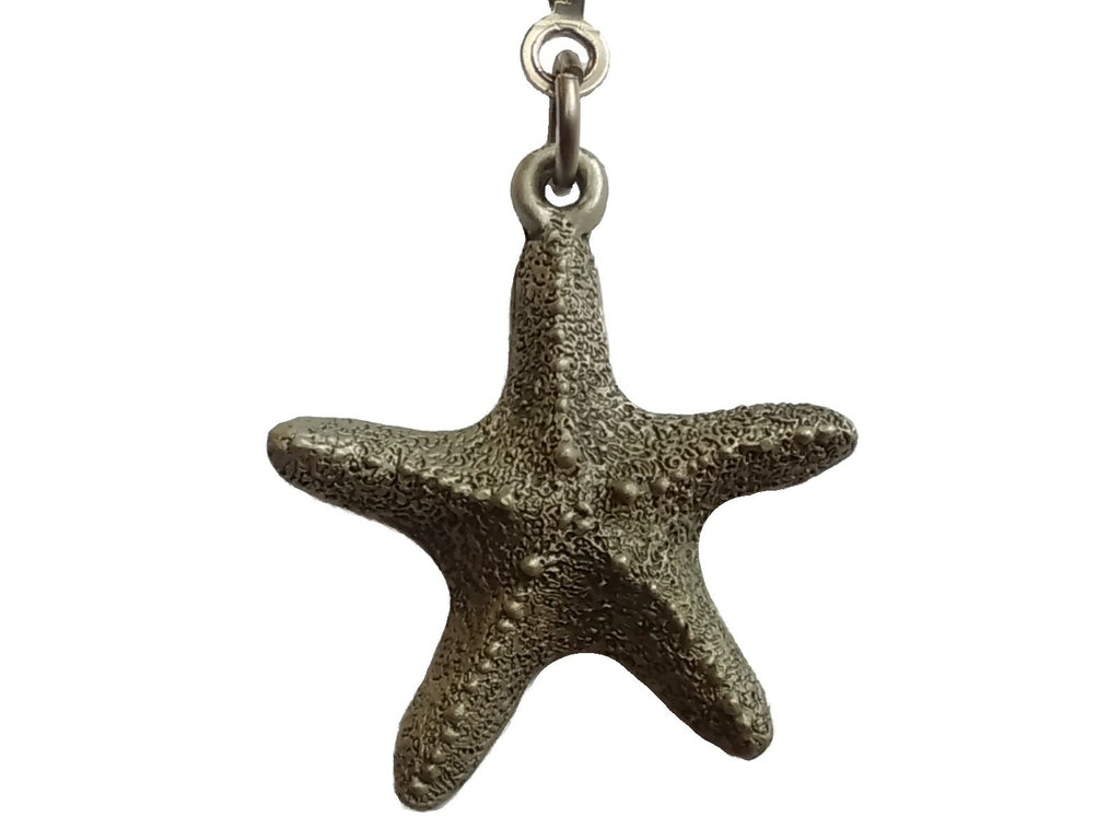 Pewter Starfish Ceiling fan Pull Chain
