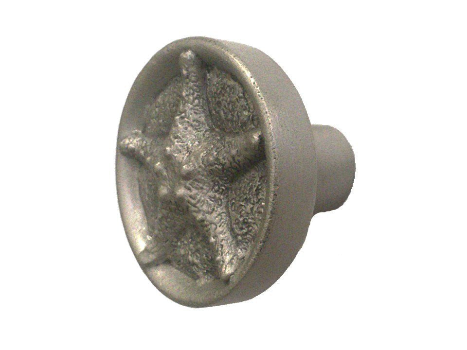 Pewter Starfish Cabinet Knob with Satin Finish