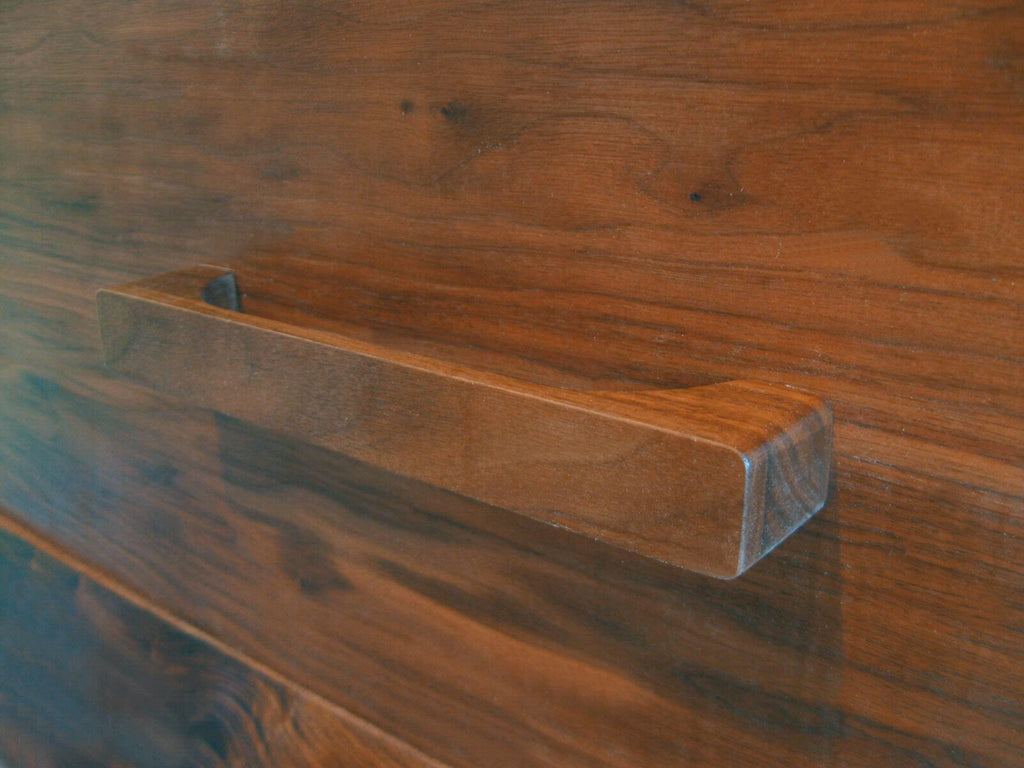 wooden walnut drawer pull southwestern hardware